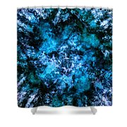Blue Burst Shower Curtain