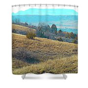 Blue Butte Prairie Reverie Shower Curtain
