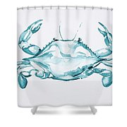 Blue Crab Turcoise Shower Curtain