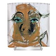 Blue Eyed Man Shower Curtain