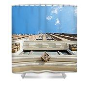 Blue Half Shower Curtain