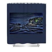Blue Hour At Bandon Beach Shower Curtain