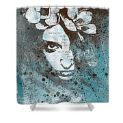 Blue Hypothermia Shower Curtain