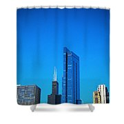 Blue Middle Shower Curtain