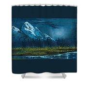 Blue Mountain Top Shower Curtain