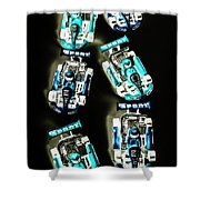Blue Racers Shower Curtain