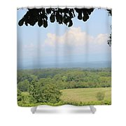 Blue Ridge Mountains And Vineyards Shower Curtain