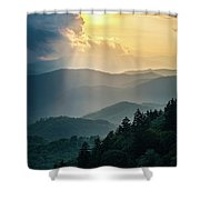 Blue Ridge Parkway Nc From Above Shower Curtain