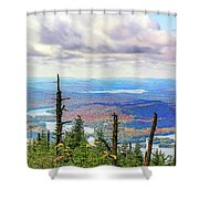 Blue To Raquette Shower Curtain
