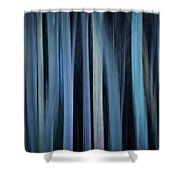 Blue Trees 1 Shower Curtain