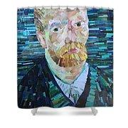 Blue Van Gogh Shower Curtain