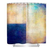 Blue Zone Shower Curtain