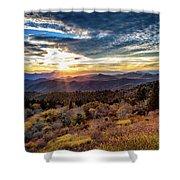 Blueridge Mountain Sunburst Shower Curtain