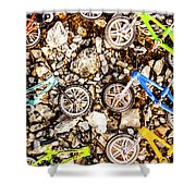 Bmx Pebble Race Shower Curtain