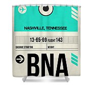 Bna Nashville Luggage Tag II Shower Curtain