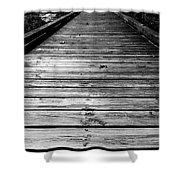 Boardwalk  Shower Curtain by Doug Camara