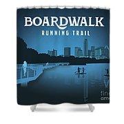 Boardwalk Running Trail Shower Curtain