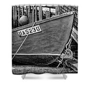 Boat At Fisherman's Cove Shower Curtain
