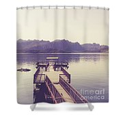 Boat Dock Tonto National Forest Shower Curtain