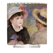 Boating Couple  Said To Be Aline Charigot And Renoir      Shower Curtain