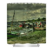 Boats At Leigh On Sea  Shower Curtain