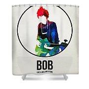 Bob Dylan Watercolor Shower Curtain