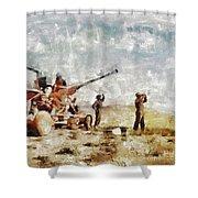 Bofors, Desert War, Wwii Shower Curtain