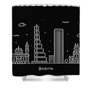 Bogota Skyline Travel Poster Shower Curtain