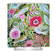 Bohemian Bird Garden Shower Curtain