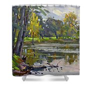Bond Lake Park Shower Curtain