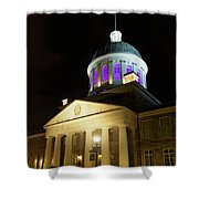 Bonsecours Market At Night In Old Montreal Shower Curtain