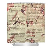 Book Bugs Shower Curtain
