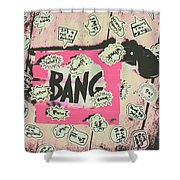 Boom Crash Bang Shower Curtain