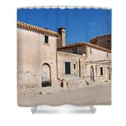 Boquer Valley Building In Majorca Shower Curtain