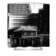 Boston Fort Point Channel Contrast Shower Curtain