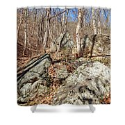 Boulders Along The Trail Shower Curtain