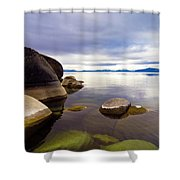 Boulders At Sand Harbor Shower Curtain