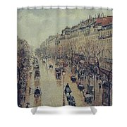 Boulevard Montmartre - Afternoon, In The Rain, 1897 Shower Curtain