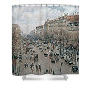 Boulevard Montmartre - Afternoon, Sunlight, 1897 Shower Curtain