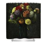 Bouquet Of Dahlias Shower Curtain