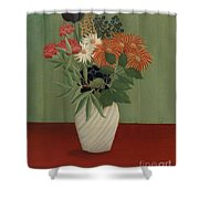 Bouquet Of Flowers With China Asters And Tokyos, 1910 Shower Curtain