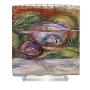 Bowl, Figs, And Apples, 1916 Shower Curtain
