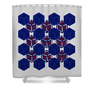 Boxed Patriot Shower Curtain