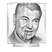 Boxer Jack Dempsey Shower Curtain