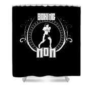 Boxing Mom Combat Sport Martial Arts Training Shower Curtain