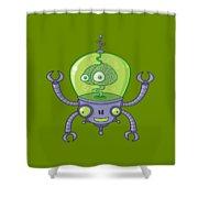 Brainbot Robot With Brain Shower Curtain