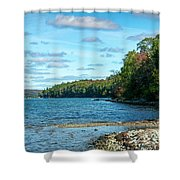 Bras D'or Lake, Cape Breton Nova Scotia, Canada Shower Curtain