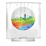 Brasilia Skyline Cityscape Brbr20 Shower Curtain