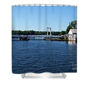 Brass Point Bridge On The Rideau Canal Ontario Shower Curtain