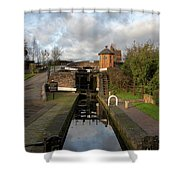Bratch Locks Landscape Shower Curtain
